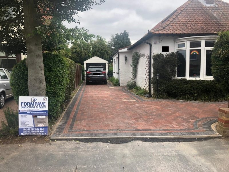 Brindle and Charcoal Block Paving Driveway in Havant, Portsmouth