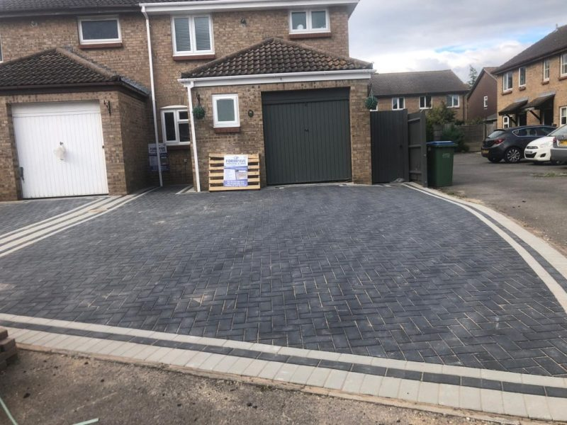Two Neighbouring Block Paving Driveways in Locks Heaths, Southampton