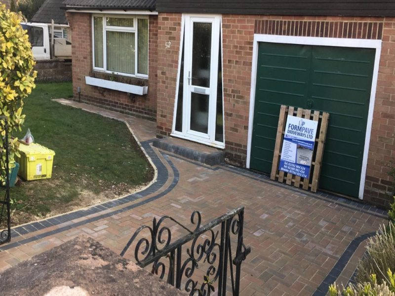 Autumn Gold Block Paving Driveway in Portsmouth