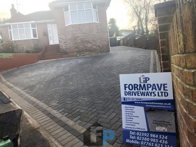 New Driveway With Block Paving in Fareham