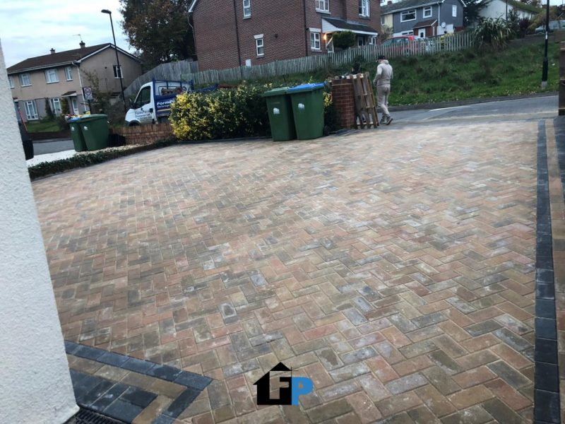 New Driveway Installation With Paving in Southampton